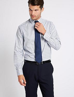Pure Cotton Regular Fit Shirt, BLUE MIX, catlanding