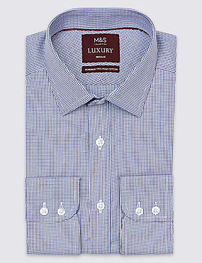 Pure Cotton Regular Fit Shirt, BLACKBERRY, catlanding