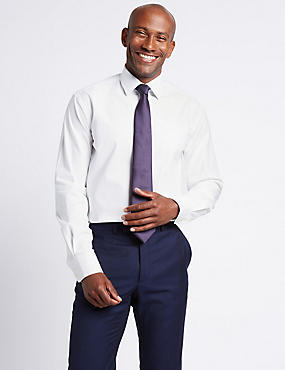 Linen Blend Tailored Fit Shirt