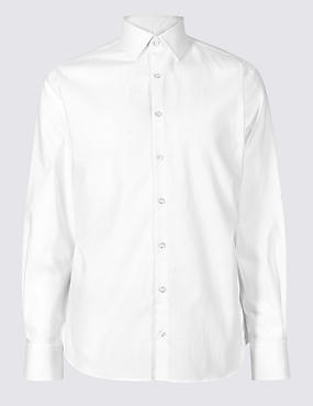 Linen Blend Easy to Iron Tailored Fit Shirt