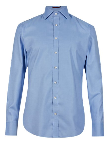 Pure Cotton Non-Iron Tailored Fit Shirt