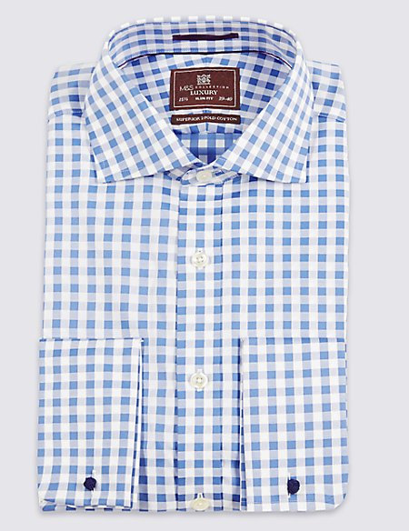 Pure Cotton Slim Fit Gingham Shirt