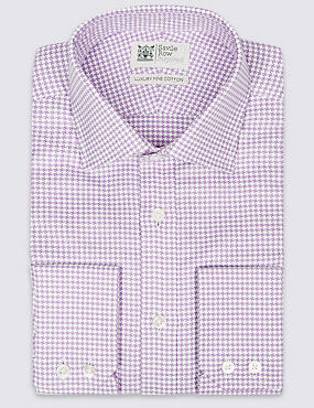 Pure Cotton Easy to Iron Tailored Fit Shirt, LILAC MIX, catlanding