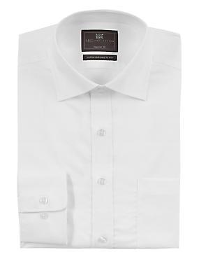 Cotton Rich Regular Fit Shirt, WHITE, catlanding