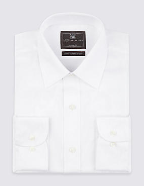 Cotton Rich Easy to Iron Twill Shirt