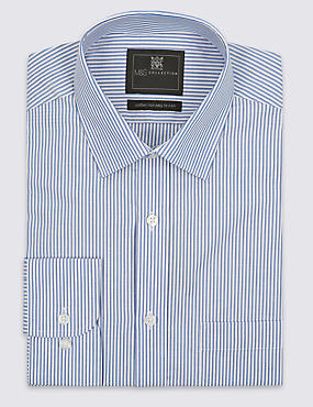 Easy to Iron Edge Striped Shirt