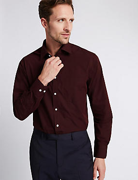 Cotton Blend Easy to Iron Long Sleeve Shirt