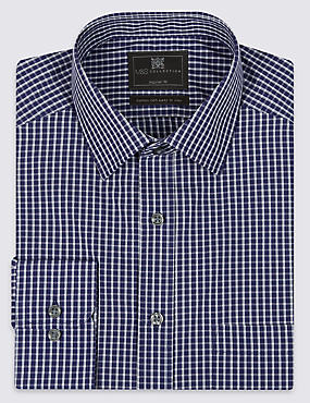 Cotton Blend Easy to Iron Checked Shirt