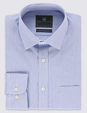 Easy to Iron Striped Shirt with Pocket