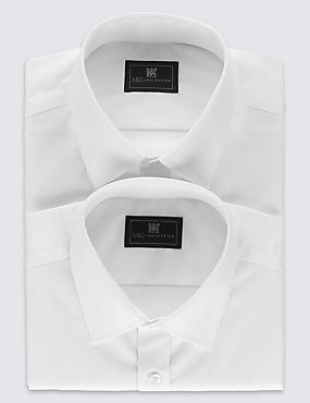 2 Pack Cotton Rich Non-Iron Shirts