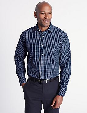 Cotton Rich Regular Fit Shirt, INK, catlanding