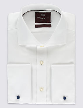 Regular Fit Cutaway Collar Double Cuff Shirt