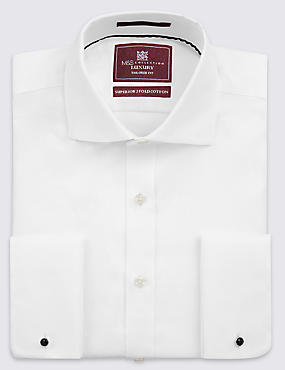 Tailored Fit Cutaway Collar Double Cuff Shirt
