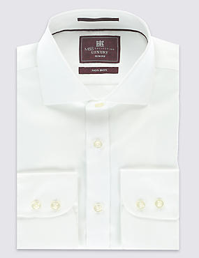Slim Fit Cutaway Collar Single Cuff Shirt