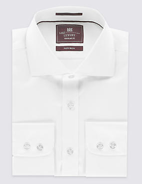 Regular Fit Cutaway Collar Single Cuff Shirt