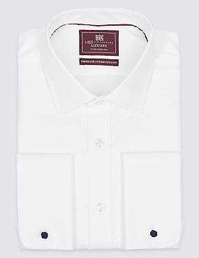 Pure Cotton Easy to Iron Tailored Fit Shirt - New Sleeve Lengths Available