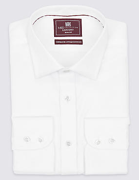 Pure Cotton Easy to Iron Slim Fit Shirt - New Sleeve Lengths Available