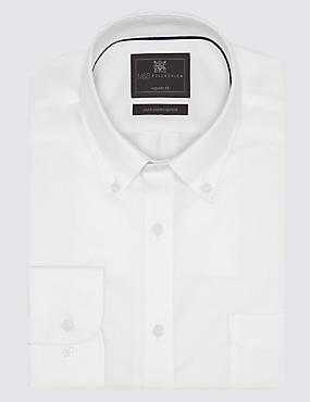2in Longer Pure Cotton Easy to Iron Oxford Shirt