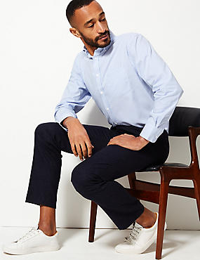 Pure Cotton Regular Fit Oxford Shirt, SKY, catlanding