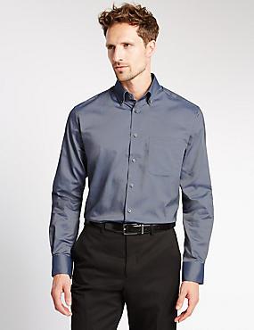 Easy to Iron Regular Fit Oxford Shirt, , catlanding