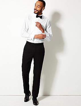 Easy to Iron Regular Fit Dinner Shirt, WHITE, catlanding