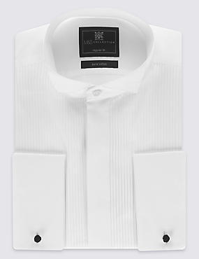 Pure Cotton Wing Collar Dinner Shirt