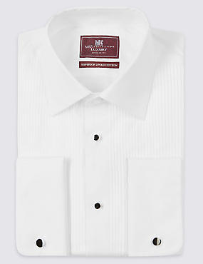 2in Longer Pure Cotton Slim Fit Shirt