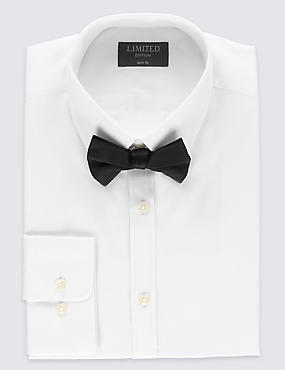 Easy Care Slim Fit Shirt with Bow
