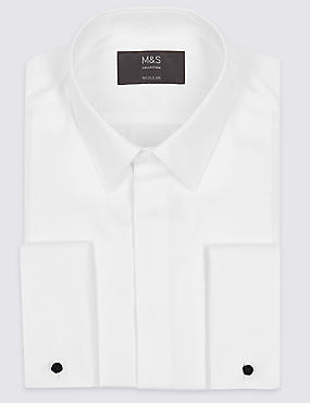 2in Longer Pure Cotton Easy to Iron Shirt
