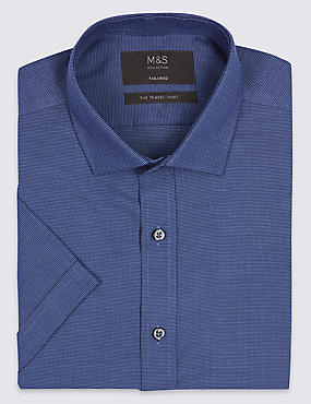 Cotton Blend Non-Iron Tailored Fit Shirt