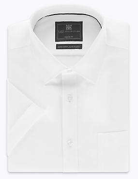 2in Longer Pure Cotton Non-Iron Regular Shirt