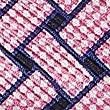 Pure Silk Lattice Print Pocket Square, PINK MIX, swatch
