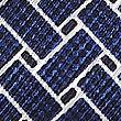 Pure Silk Lattice Print Pocket Square, NAVY MIX, swatch