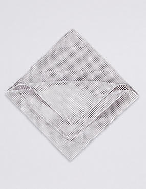 Pure Silk Waffle Textured Pocket Square