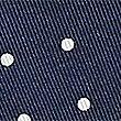 Pure Silk Spot Print Pocket Square, NAVY MIX, swatch