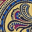 Pure Silk Paisley Print Pocket Square, YELLOW MIX, swatch