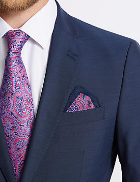 Pure Silk Printed Pocket Square, , catlanding