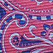 Pure Silk Paisley Print Pocket Square, MAGENTA MIX, swatch