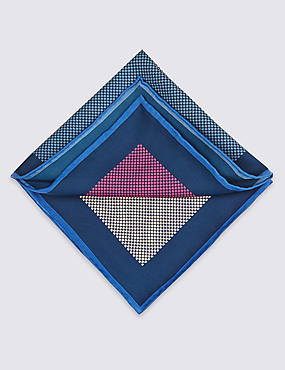 Pure Silk Checked Pocket Square