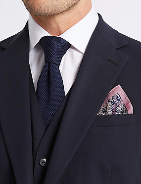 Pure Silk Floral Print Pocket Square, PINK MIX, catlanding