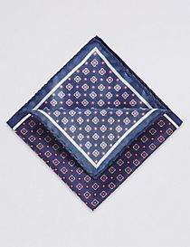 Pure Silk Printed Pocket Square