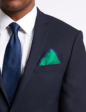 Pure Silk Pocket Square, GREEN, catlanding