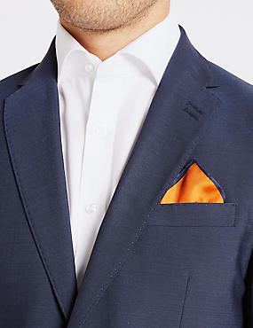 Pure Silk Pocket Square, ORANGE, catlanding