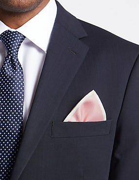 Pure Silk Pocket Square, PALE PINK MIX, catlanding