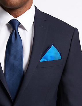 Pure Silk Pocket Square, ROYAL BLUE, catlanding