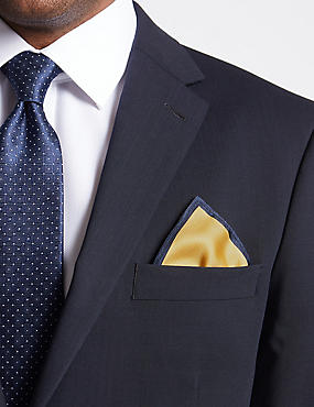 Pure Silk Pocket Square, GOLD MIX, catlanding