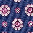 Pure Silk Foulard Pocket Square, BLUE MIX, swatch
