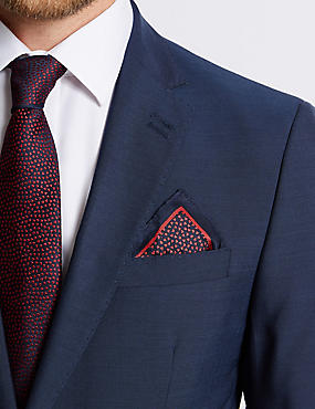 Pure Silk Heart Printed Pocket Square
