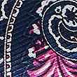 Pure Silk Paisley Print Pocket Square, NAVY MIX, swatch