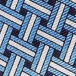 Pure Silk Lattice Print Pocket Square, BLUE MIX, swatch
